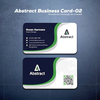 Modern wavy business card mockup
