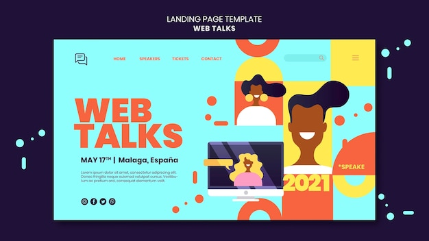 Modern web talks landing page template