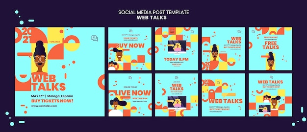Il web moderno parla del modello di post sui social media