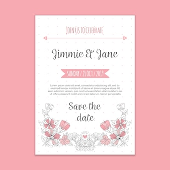 Modern wedding invitation mockup