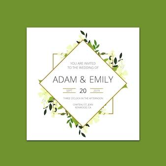 Modern wedding invitation mockup