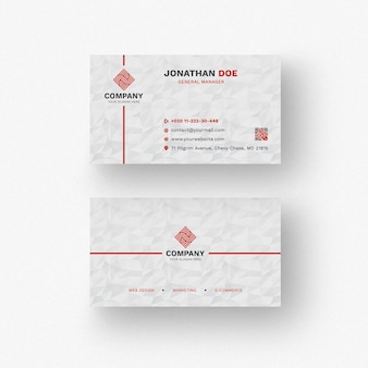 Modern white business card mockup