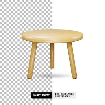 Современный деревянный стол на прозрачном фоне