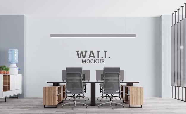 モダンなワークスペース。壁のモックアップ