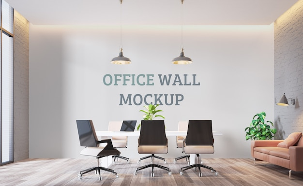 Modern workspace.wall mockup