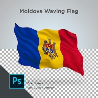 モルドバフラグ波デザイン透明