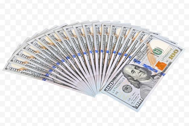Money in fan shape