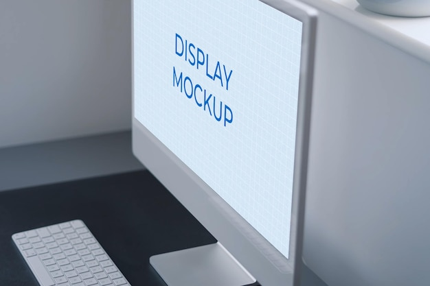 Monitor display mockup all-in-one pc