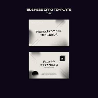 Monochrome art business card