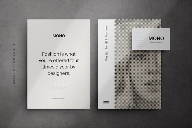 Monochrome stationery mockup