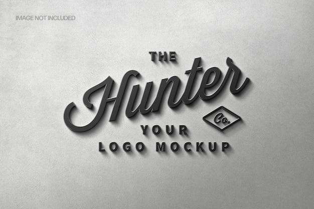 Monolithic steel signage logo mockup