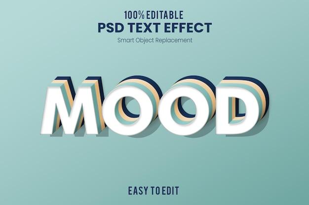 Текстовый эффект mood3d