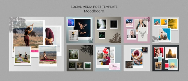Moodboard social media posts template