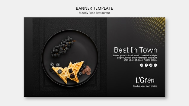 Moody food banner template