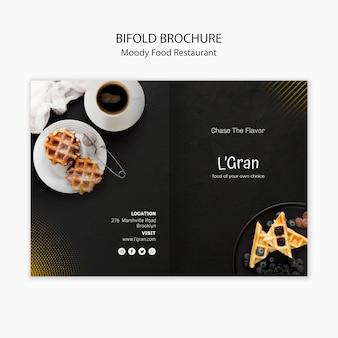 Moody food bifold brochure Free Psd