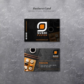Moody food business card template