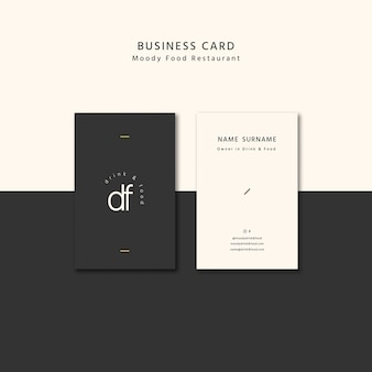 Moody food business card