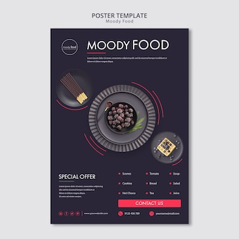 Moody food creative poster template
