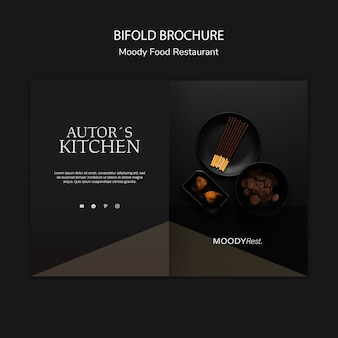 Moody food restaurant brochure template