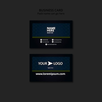 Moody food restaurant business card