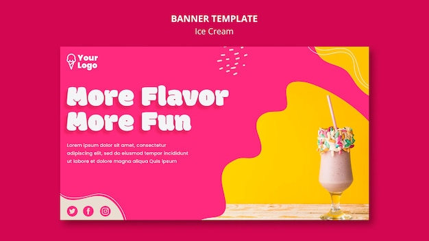More flavour more fun banner template