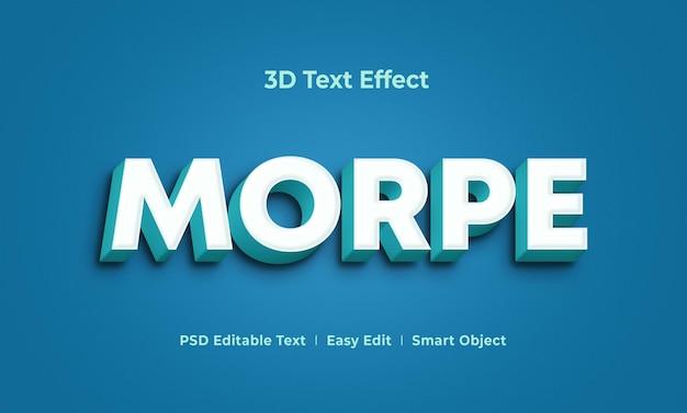 Шаблон макета с текстовым эффектом morpe 3d