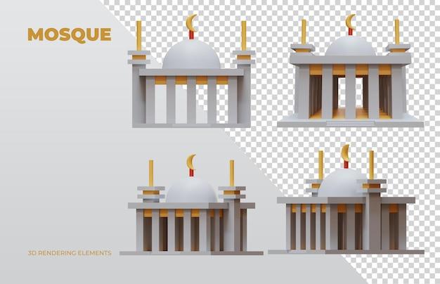 모스크 3d 렌더링 요소