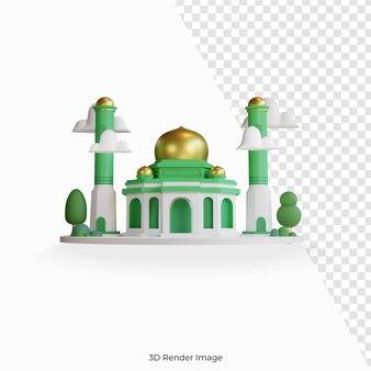 Мечеть здание мусульманской архитектуры исламский купол Premium Psd