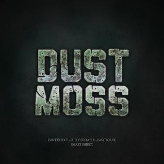 Moss 3d font effect