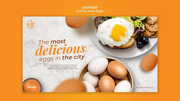 The most delicious eggs in the city banner template