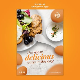 The most delicious eggs flyer template
