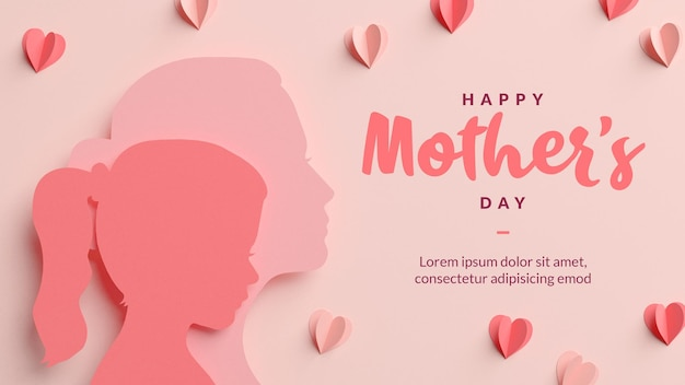Mother's day background greeting card template