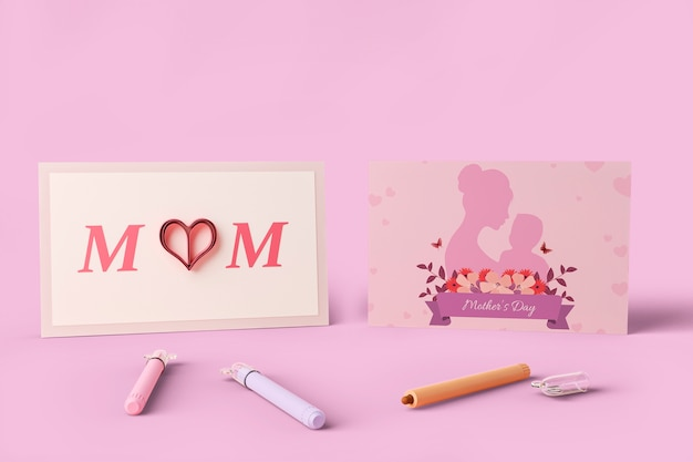 Celebrazione della festa della mamma con mock-up