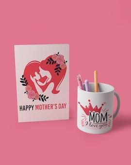 モックアップで母の日カードのコンセプト