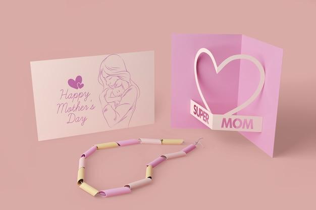 Scheda di celebrazione della festa della mamma con mock-up