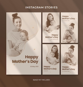 Редактируемый шаблон ко дню матери для баннера в социальных сетях instagram