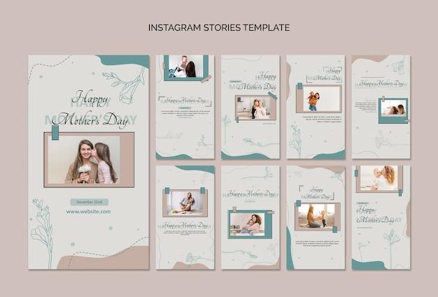 Шаблон рассказов instagram день матери