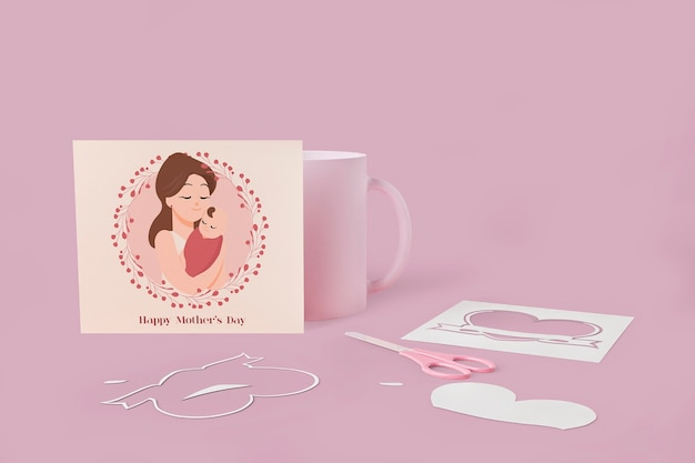 Mother's day love card with mock-up concept