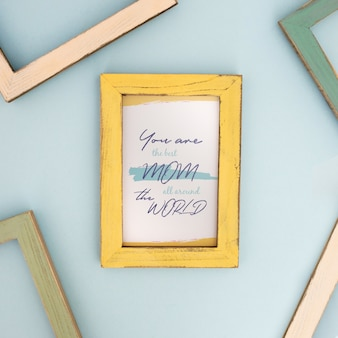Mother's day mockup frame