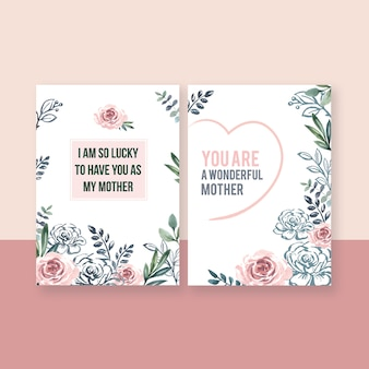 Mother's day special activity card elegant sweet flowers