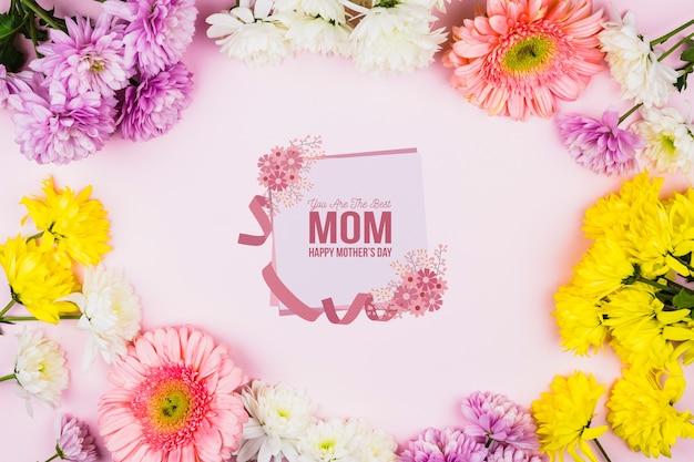 꽃과 어머니의 날 카드 이랑
