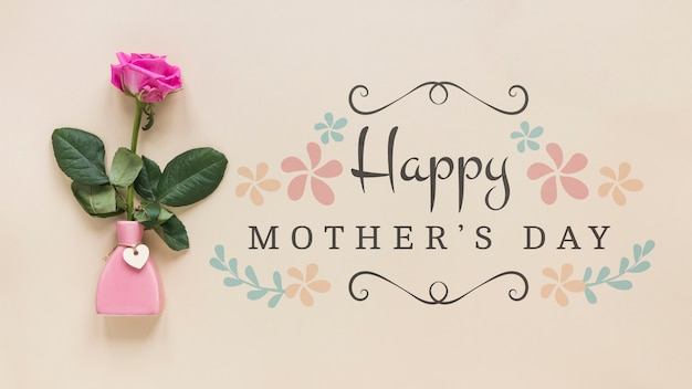 Mothers day mockup with copyspace