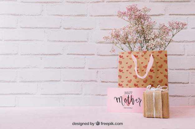 Матовый день макетов с подарками и copyspace