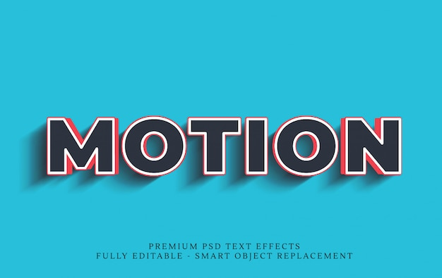 Motion 3d text style effect