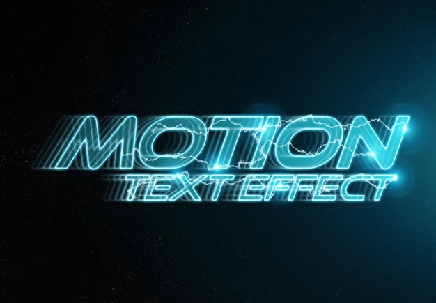 In motion text effect mockup