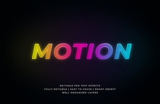 Motion text style effect
