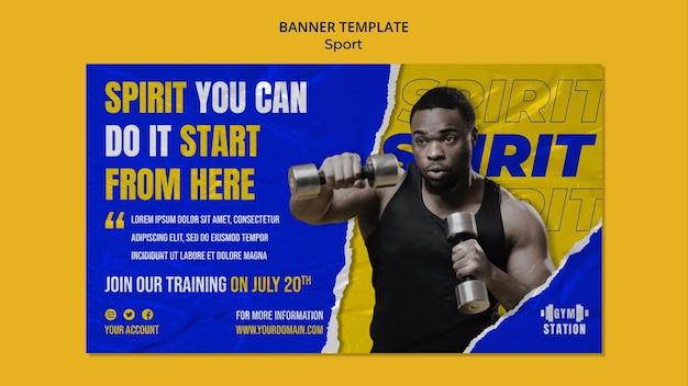 Motivation for sport banner template