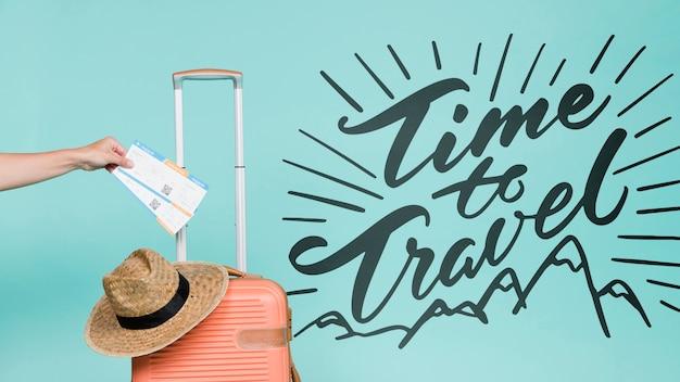 휴가 여행 개념에 대한 동기 부여 글자 인용