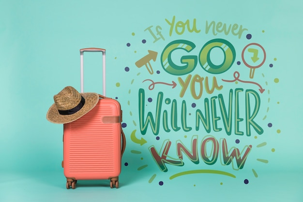 Motivational lettering quote for holidays traveling concept