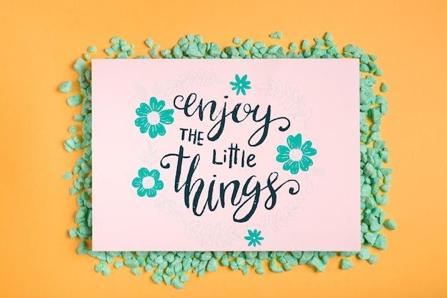 Motivational message inside frame